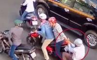 Bắt 2 đối tượng trong băng nhóm đạp đổ xe, cướp tài sản ở Sài Gòn