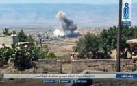 'Điểm nóng' ở Syria bị không kích, dội bom