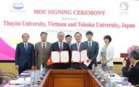 Ký kết hợp tác toàn diện giữa 2 trường ĐH: Thủy lợi và Tohoku (Nhật Bản)