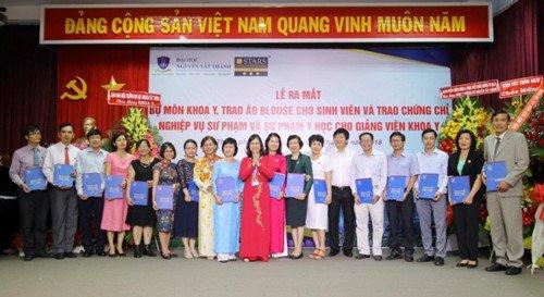 Trường ĐH Nguyễn Tất Thành ra mắt bộ môn khoa Y