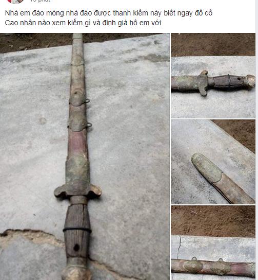 Thanh niên đào được thanh kiếm cổ dưới móng nhà, bất ngờ có người trả hẳn 17 tỷ
