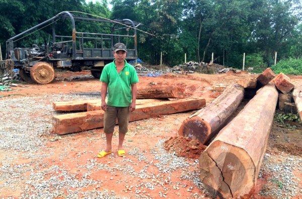 Bắt giữ đối tượng vận chuyển gỗ trái phép